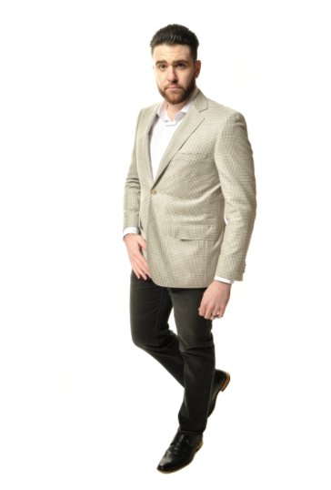 Ivory Plaid Classic Fit Sport Jacket