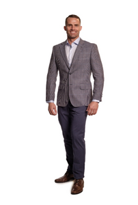 Red and Blue Check Sport Fit Sport Jacket