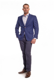 Regal Blue Classic Fit Sport Jacket