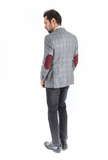 Wine Check Classic Fit Sport Jacket
