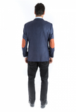 Navy Microbox Sport Fit Sport Jacket