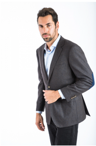 Classic Brown Blue Sport Fit Sport Jacket