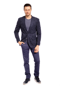 Navy Vintage Slim Fit Sport Jacket