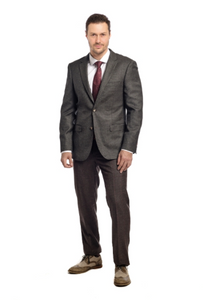 Olive Texture Slim Fit Sport Jacket