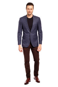 Silky Smooth Sharkskin Slim Fit Sport Jacket