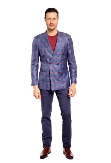Pure Cashmere & Silk Slim Fit Sport Jacket