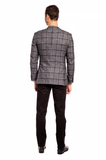 Cashmere Winter Check Slim Fit Sport Jacket