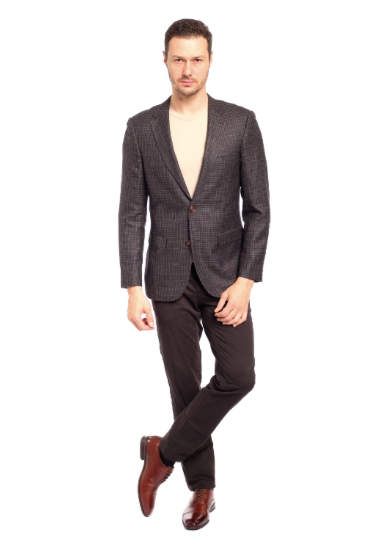 Microbox Sharkskin Slim Fit Sport Jacket
