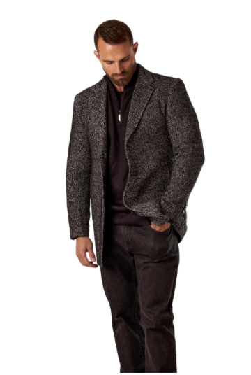 Brown Single Breasted Overcoat