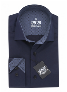 Dark Blue RGB Sport Fit Casual Shirt