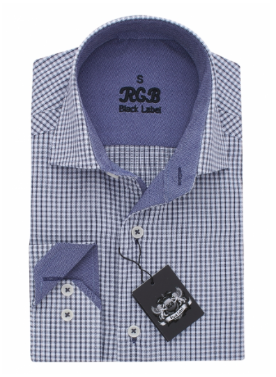Blue Check RGB Sport Fit Casual Shirt