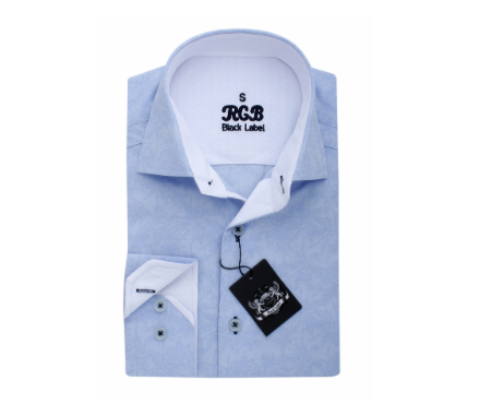 Light Blue RGB Sport Fit Casual Shirt