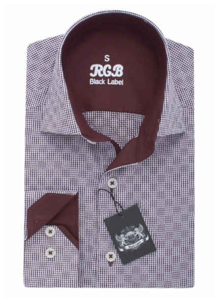 White & Maroon RGB Sport Fit Casual Shirt