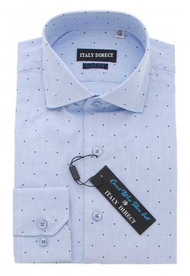 Blue Dot Slim Fit Casual Shirt