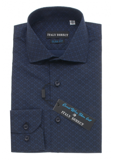 Dark Blue Slim Fit Casual Shirt