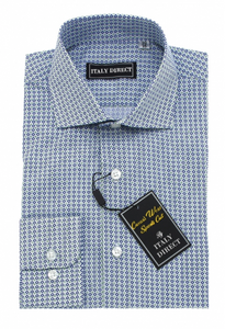 Blue Pattern Sport Fit Casual Shirt