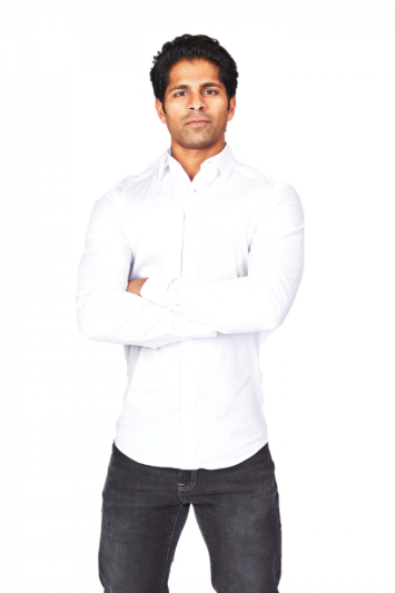 White Athletic Fit Casual Shirt
