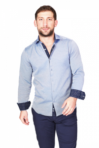 Blue & Navy Sport Fit Casual Shirt