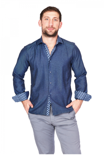Blue Sport Fit Casual Shirt