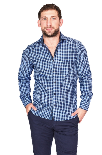 Blue Check Sport Fit Casual Shirt