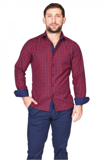 Red & Blue Check Sport Fit Casual Shirt