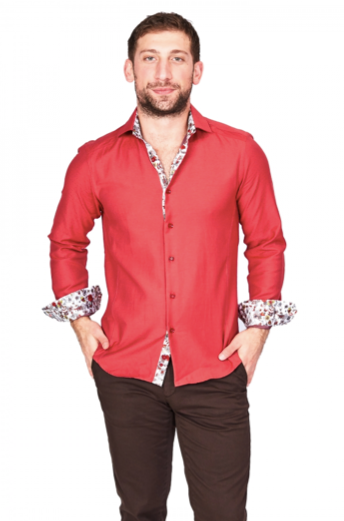 Red Sport Fit Casual Shirt