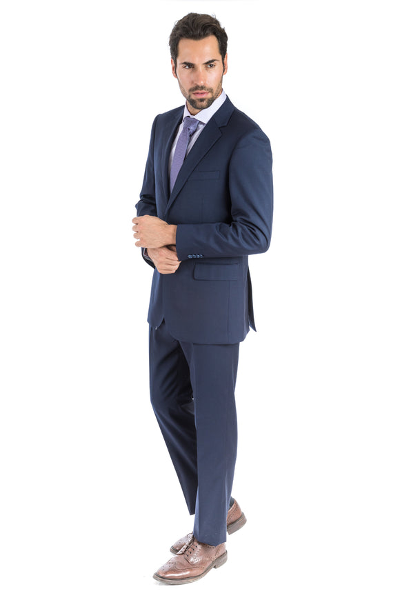 Modern Fit Solid Navy Suit