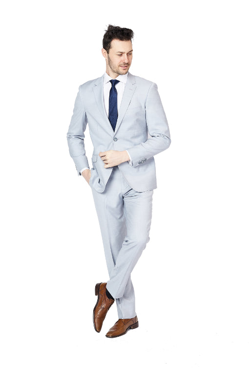 Slim Fit Baby Blue Suit