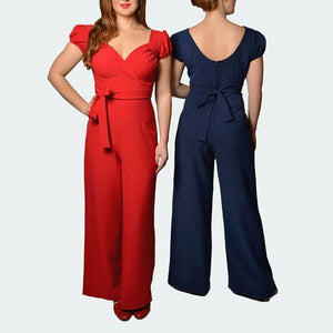 Stop Staring Barcelona Pantsuit in Red