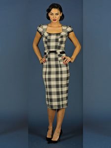 Ginny Black Plaid Fitted Dress by Stop Staring!