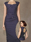 Love Dress Navy with White Dots