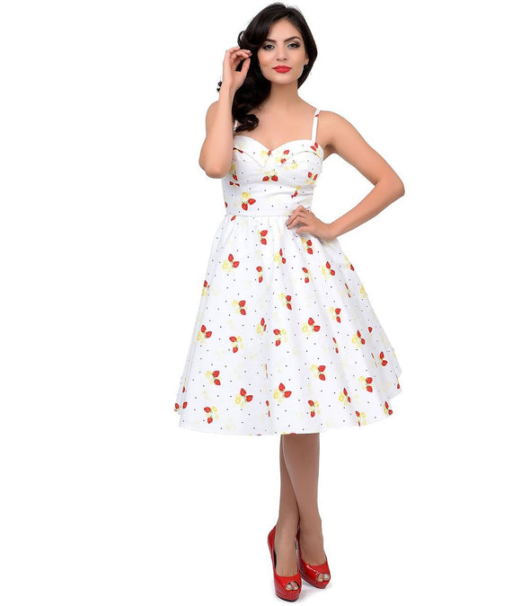 Stop Staring Strawberry Swing Dress