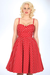 Summertime Swing in Red with White Dots