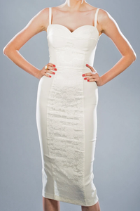 Stop Staring Virginia Ivory Lace Dress