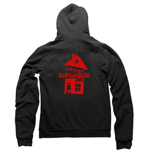 LFDH Zip-front light-weight hoody - Red Logo