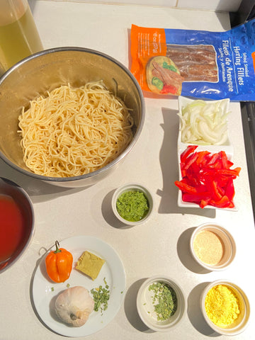 Recipe for Spagetti And Smoked Herring Filets