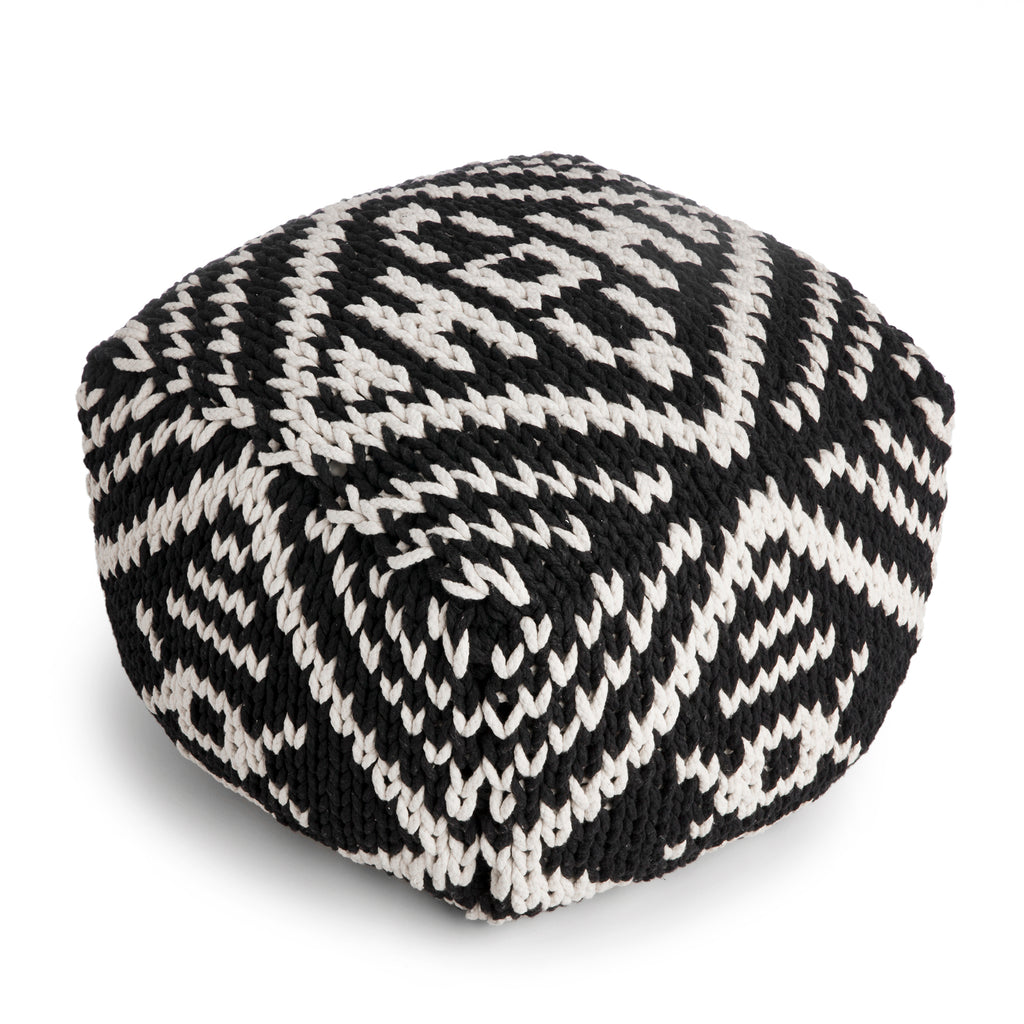 Puff Tribal Preto
