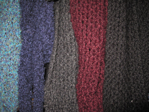 Scarves, Infinity Scarves and Cowls - Alpaca, Bamboo, Cashmere, Linen, Silk, Soft Acrylic, Yak