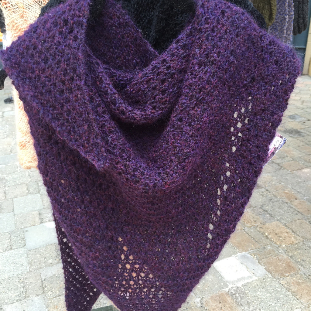 MOHAIR PURPLE SHAWL/NECK SCARF