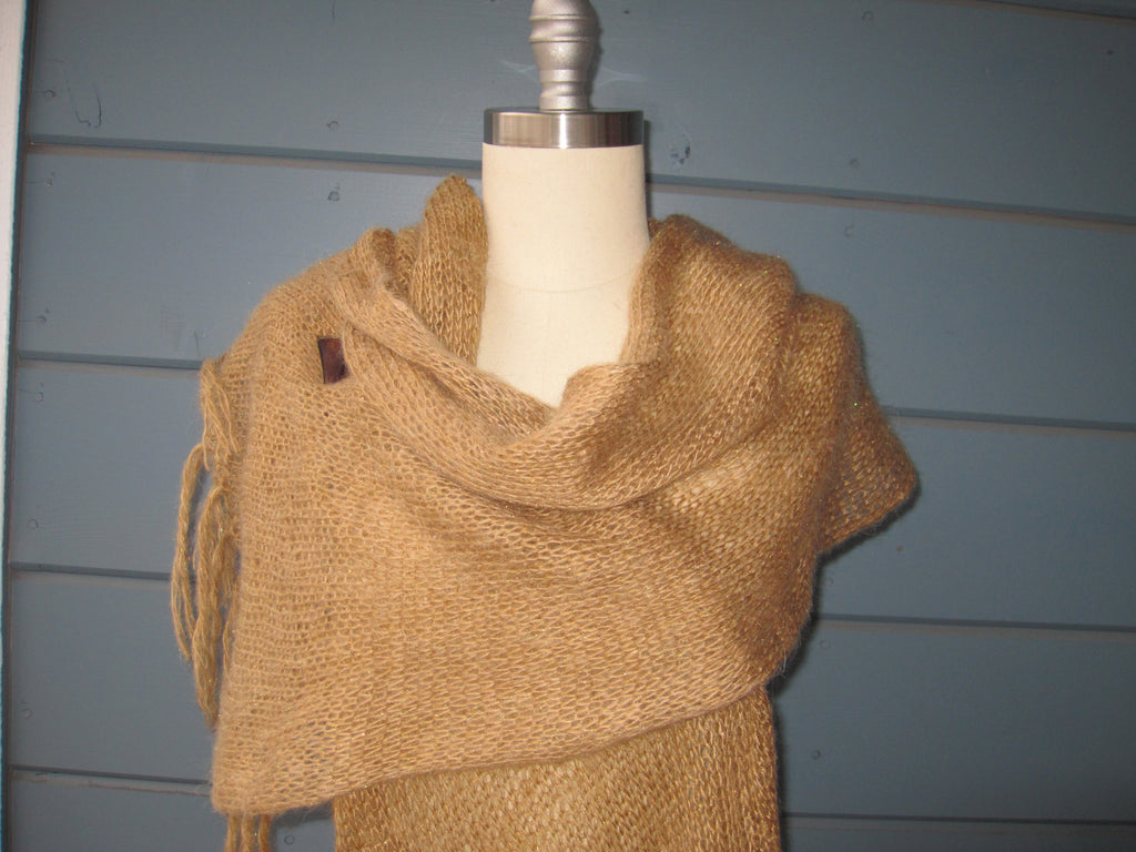 Golden Goddess Shawl /Scarf