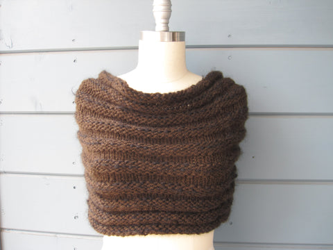 Espresso Shrug - may also be worn as a Cowl
