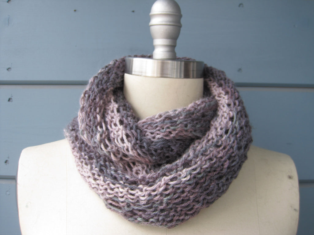 Mauve Infinity Scarf  55% Cashmere 45%  Silk -  So very soft  ! SOLD