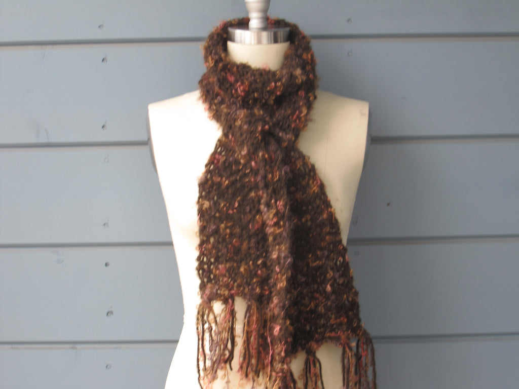 Peach & Brown Scarf