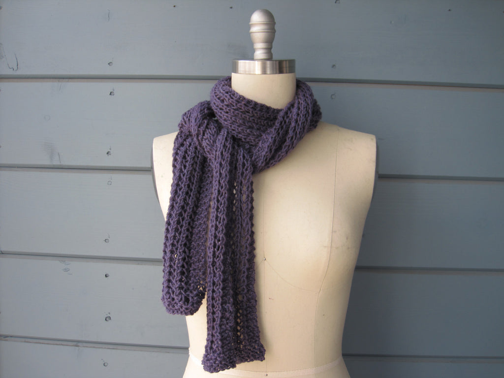 Purple Lace Scarf - New Wool