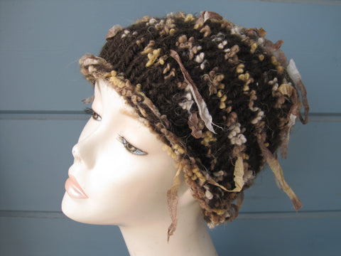 Brown Ribbon  Hat