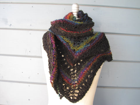 Black Rainbow Shawl