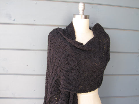 Black Sparkle Shawl / Scarf