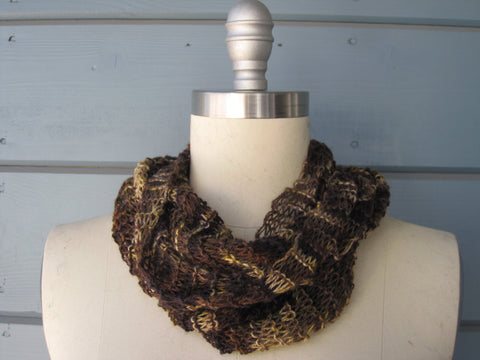 100% Cashmere Camouflage Cowl - Hand Dyed