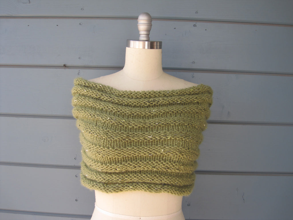 Green Sparkle Shrug/Cowl