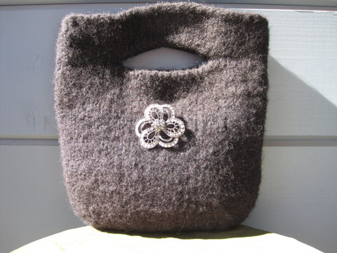 Black Felted Evening Bag